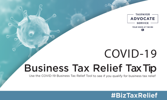 COVID Business Tax Tip Image Blue