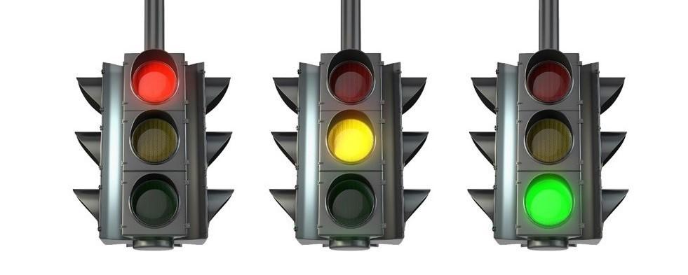 three stoplights