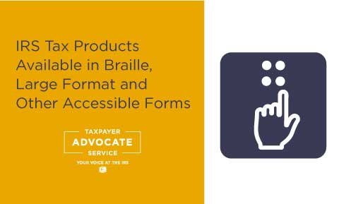IRS Tax Products Available in Accessible Formats