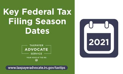 Key Tax Filing Due Dates 2021
