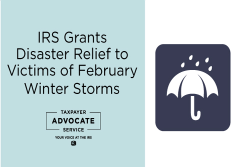 Disaster Relief for Victims of February 2021 Winter Storms