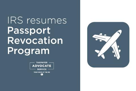 IRS Resumes Passport Revocation Program: 2021