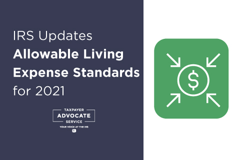 IRS updates Allowable Living Expense standards for 2021