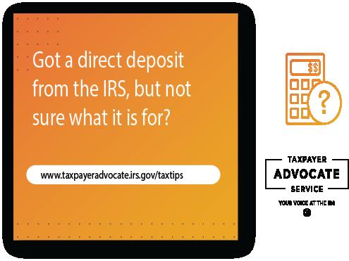 return a direct deposit refund